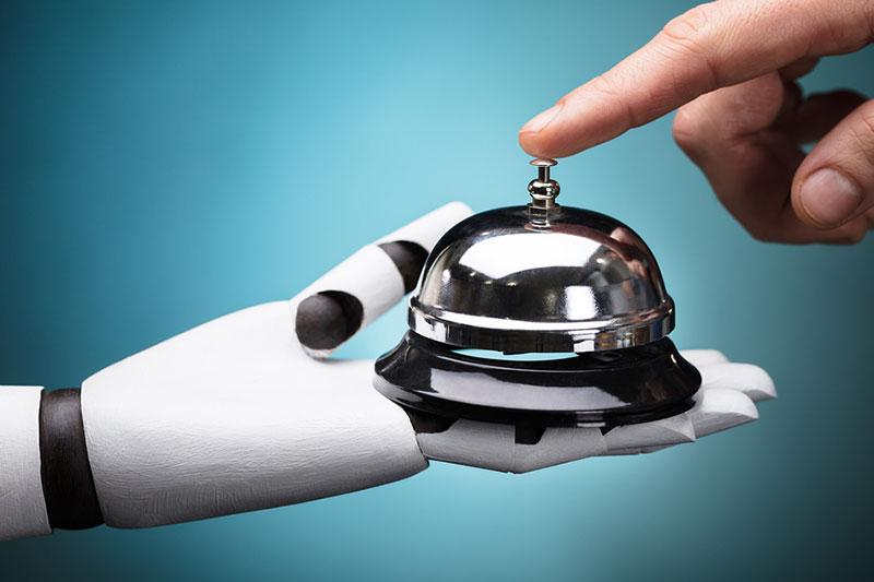 robots en el sector hotelero